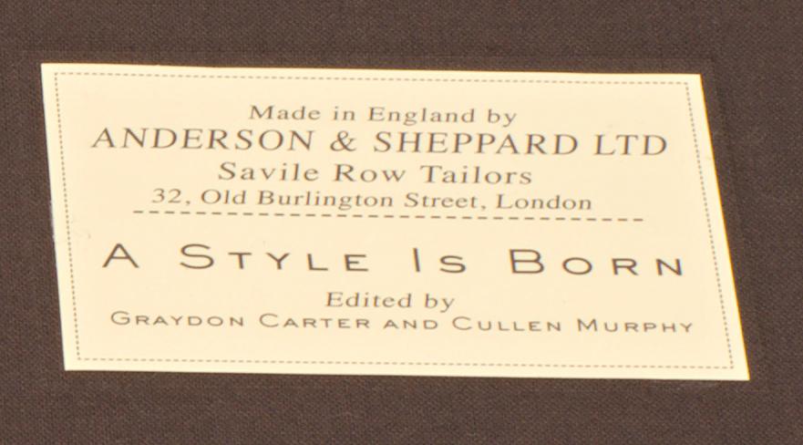 """Le livre événement : """"Anderson & Sheppard, A Style Is Born""""."""
