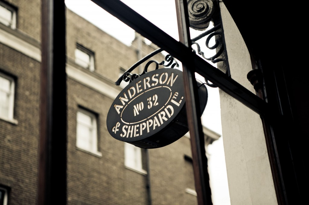 Anderson & Sheppard :  the legend lives on ...