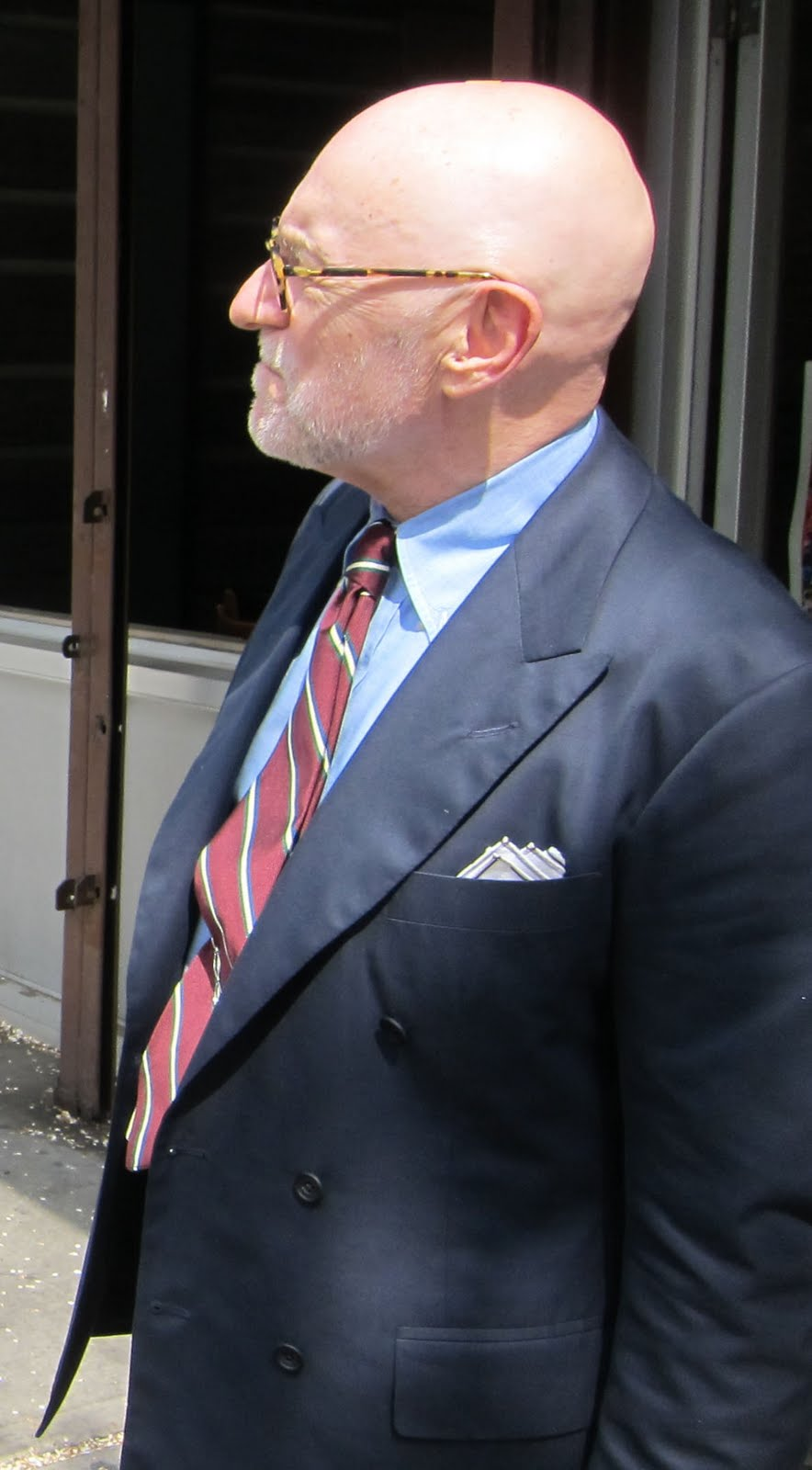 G Bruce Boyer unbuttoned jacket and shirt
