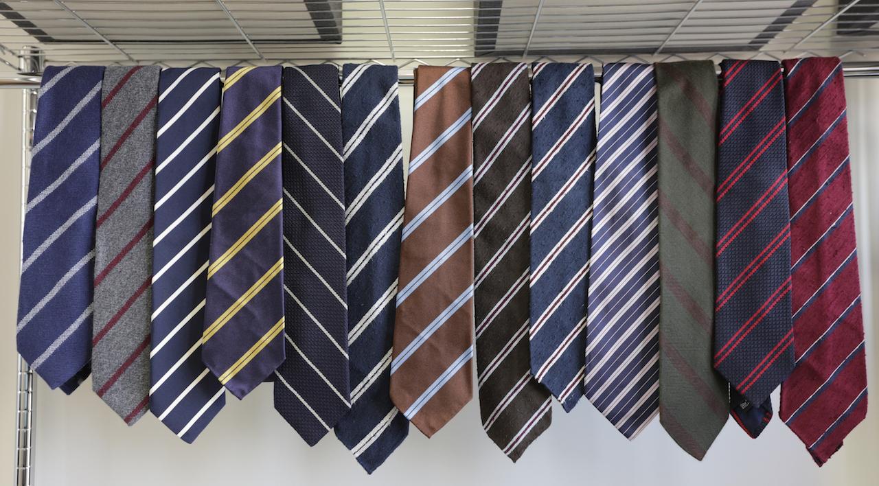 British Striped Neckties
