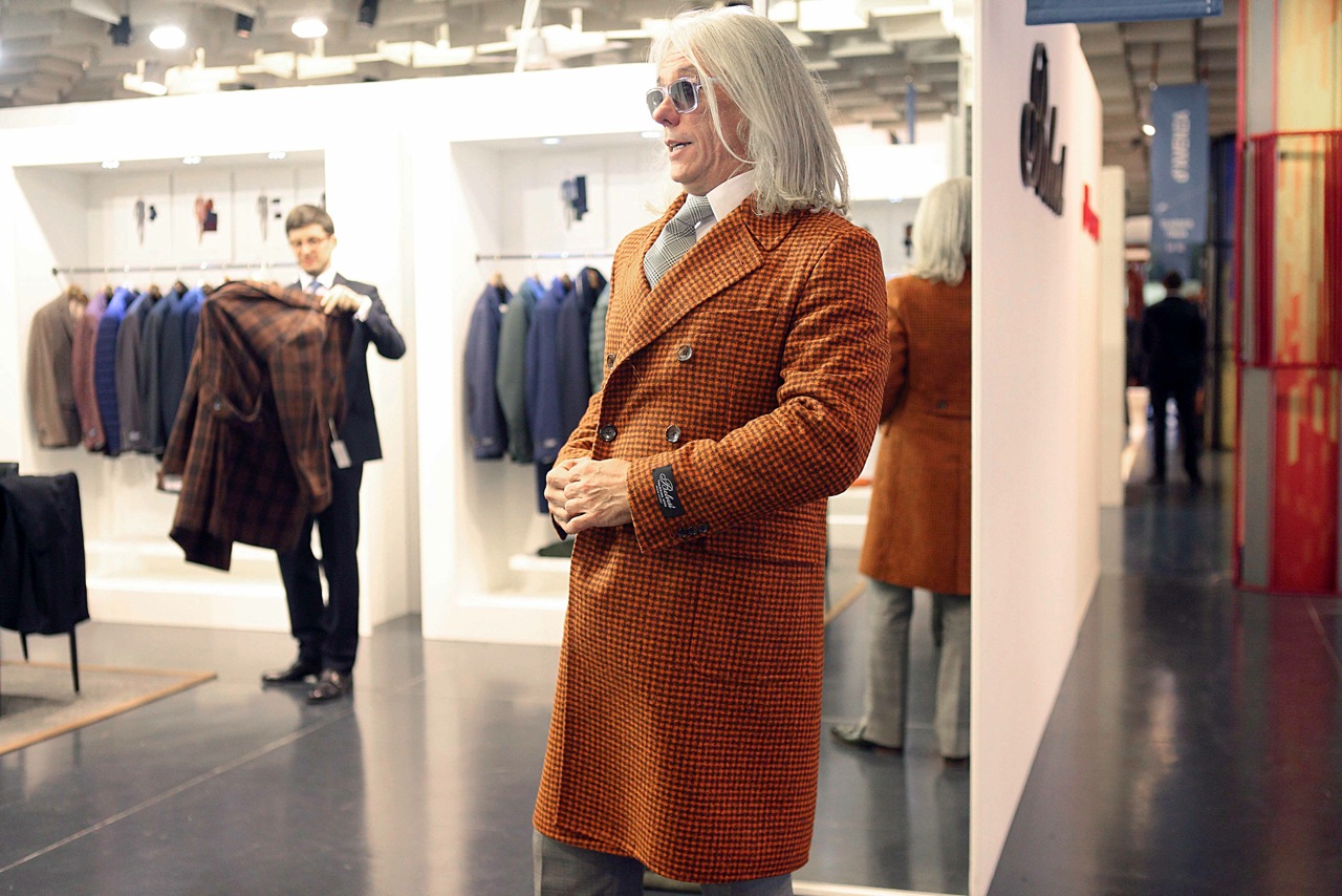 Belvest Orange overcoat