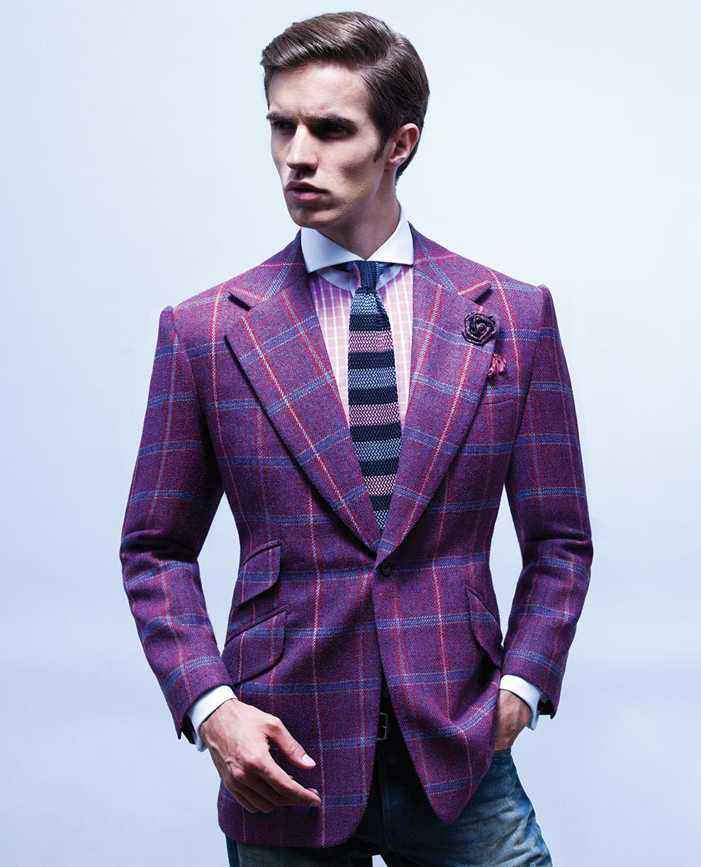 Purple Checked sport jacket