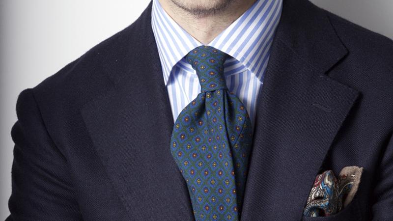 Blue Loafers split tie