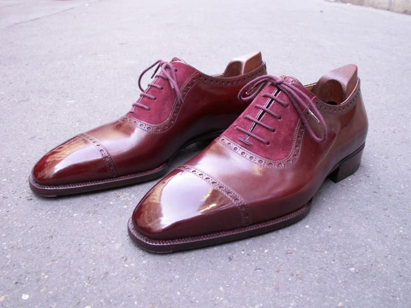 Delos Bespoke : gorgeous two-leathers oxford