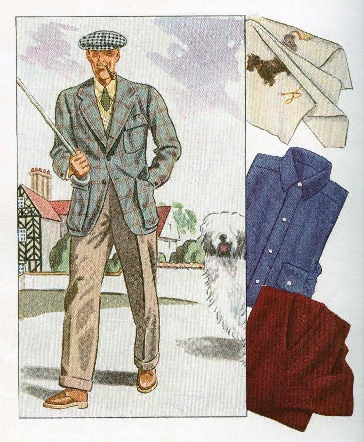 """Exceptionnel : les pages """"mode"""" du premier numéro du magazine ESQUIRE (automne 1933)"""