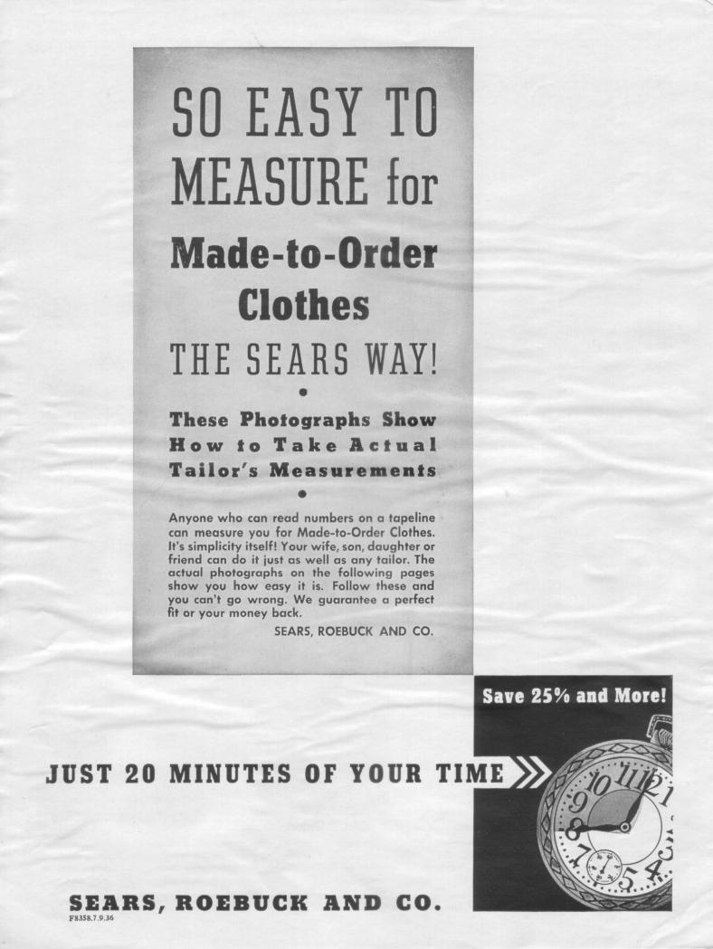 Guide de la prise de mesure (1939)
