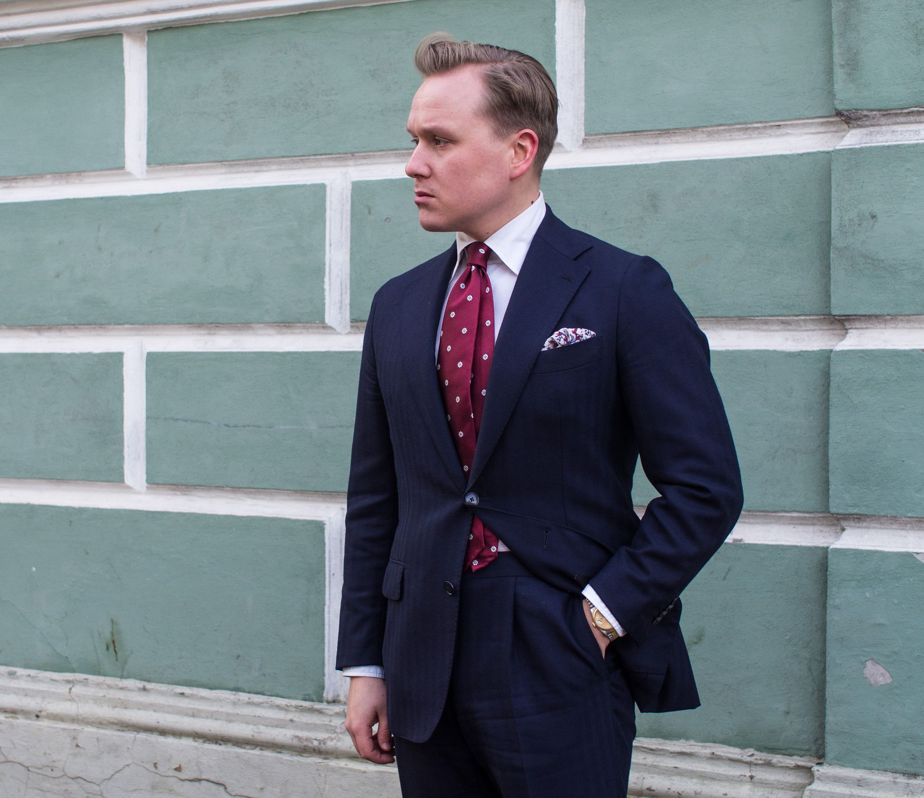 How to wear a red tie (without looking like you're caught in a time warp)