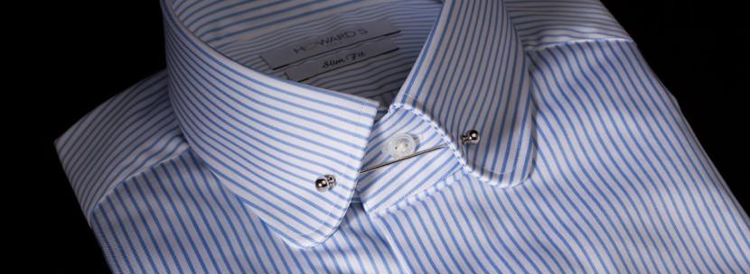 Howard's pin collar striped