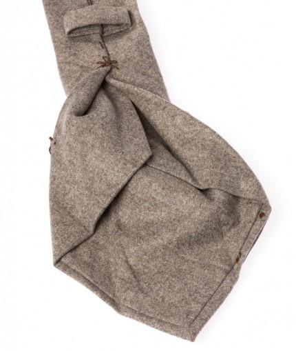 cravate-7-plis-beige-en-flanelle