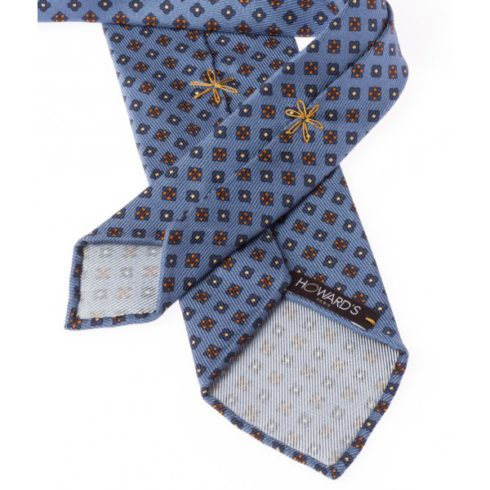 cravate-non-doublee-bleu-moyen-et-fleurs-soie-50oz