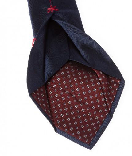 cravate-7-plis-en-soie-tissee-chevron-marine