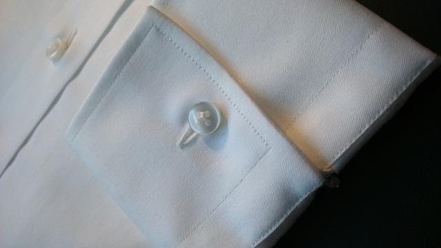 Lanieri Chemise blanche poignets simples