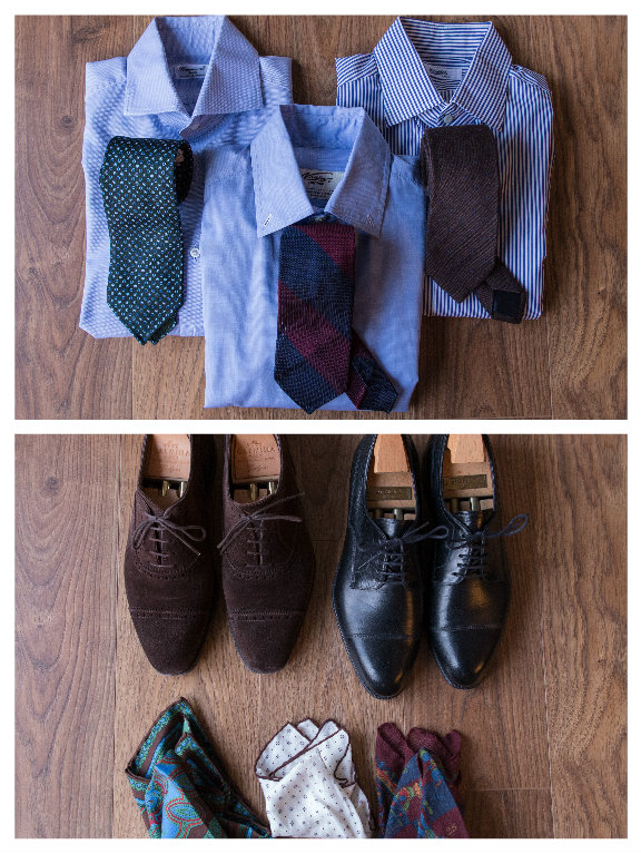 Shirts & shoes for 3 day business trip