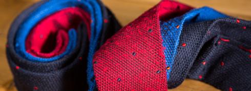 Howard's Cravate 3 plis non doulblées en soie shantung