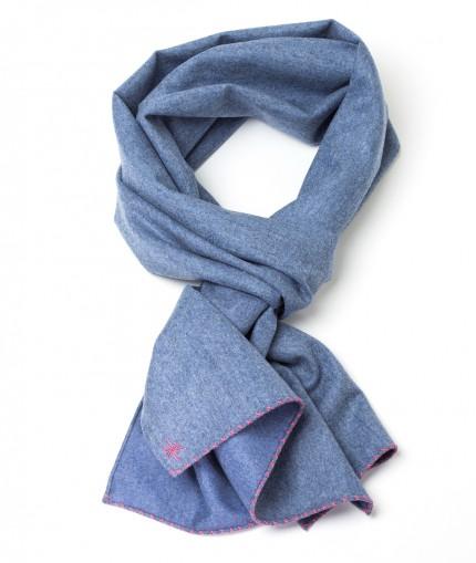 Howard's echarpe-flannelle-bleu-ciel-unie