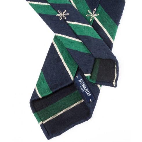 Howard's cravate 3 plis soie shantung 2