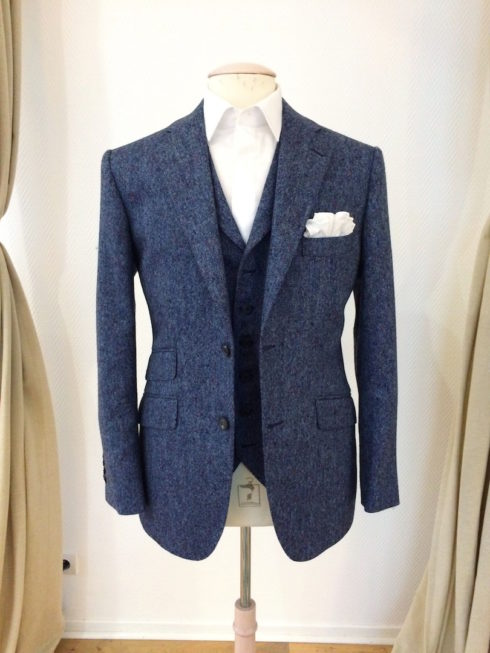 Les Francs Tireurs Paris Cotume tweed bleu