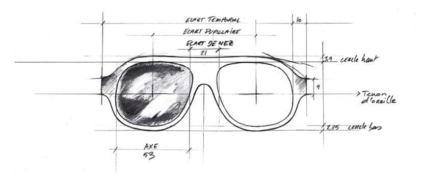 Dessin lunette bonnet
