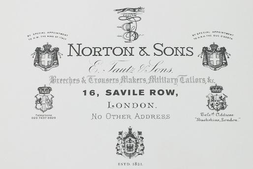 Petit voyage au coeur de la maison Norton & Sons
