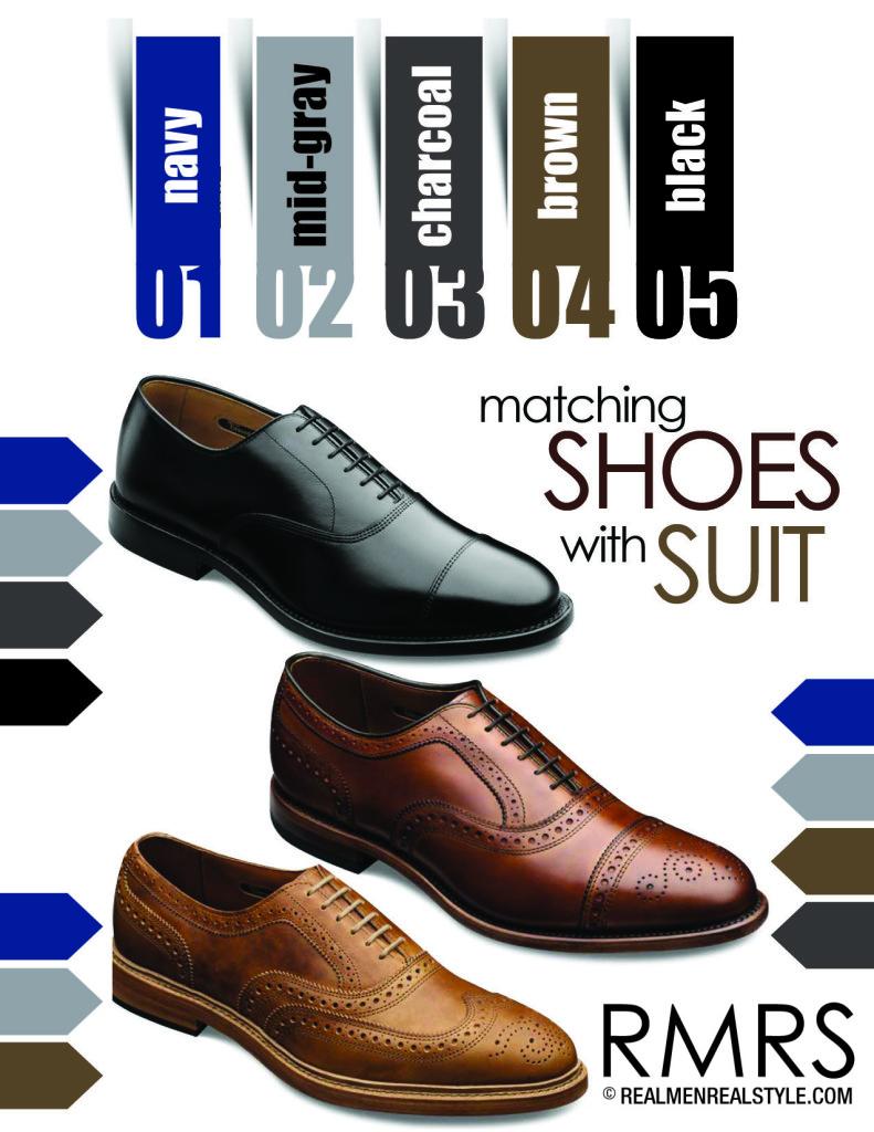 Suit:Shoe color coordination