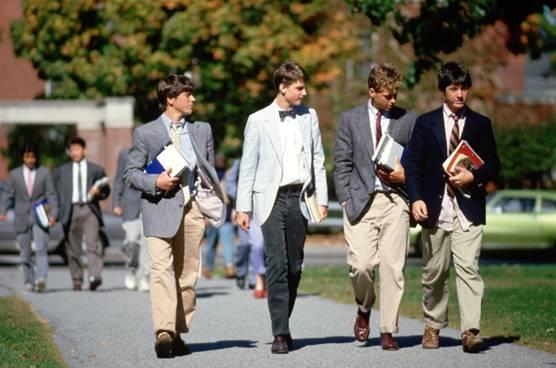 Preppy students