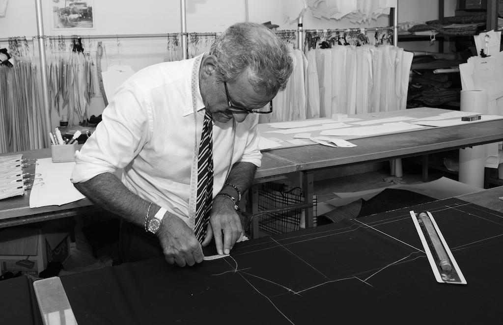 Vincenzo Attolini in his factory