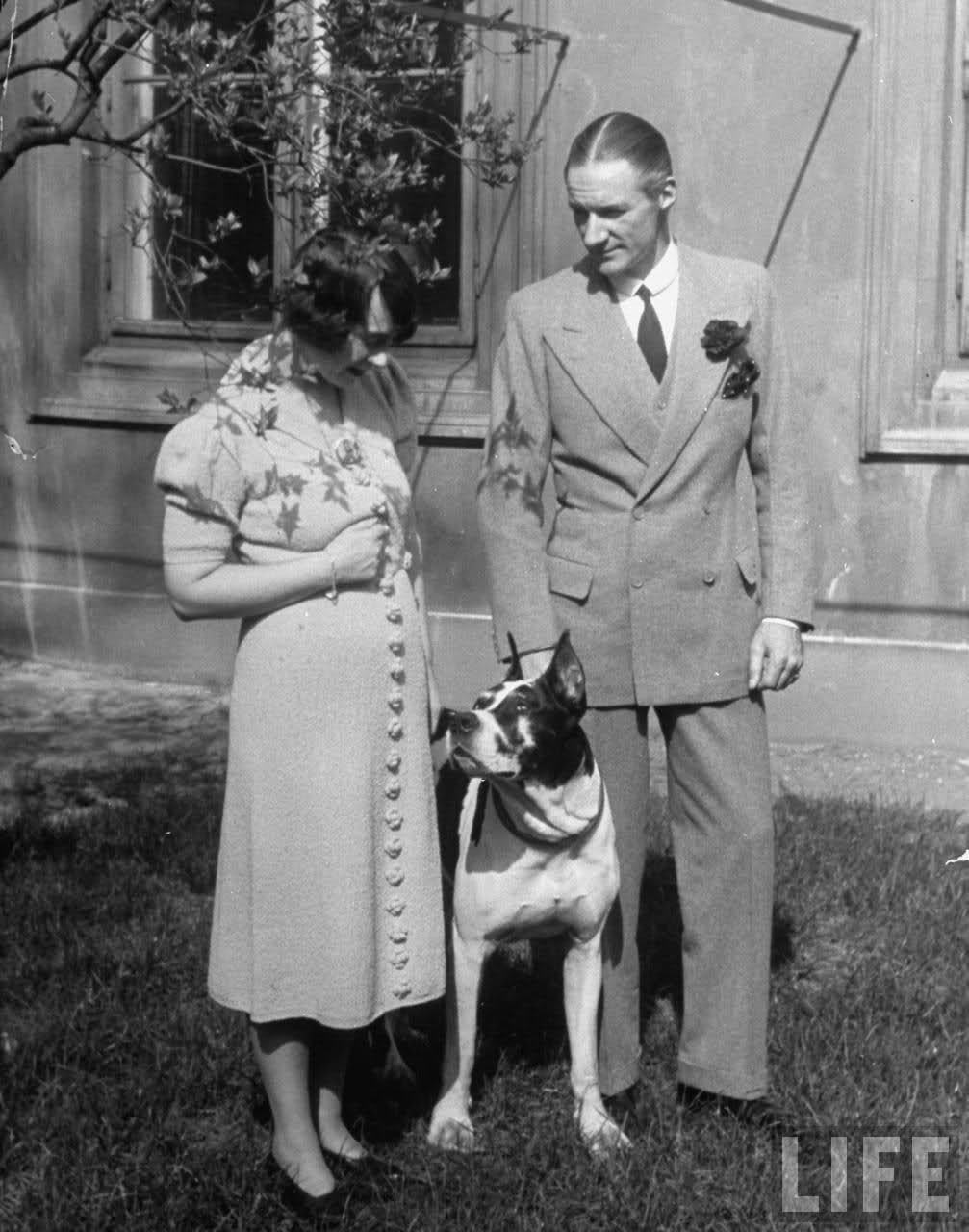 A.J. Drexel Biddle and wife