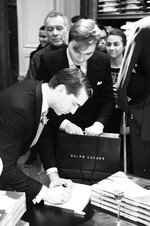 The Perfect Gentleman's signing event @ Ralph Lauren Paris Rive Gauche