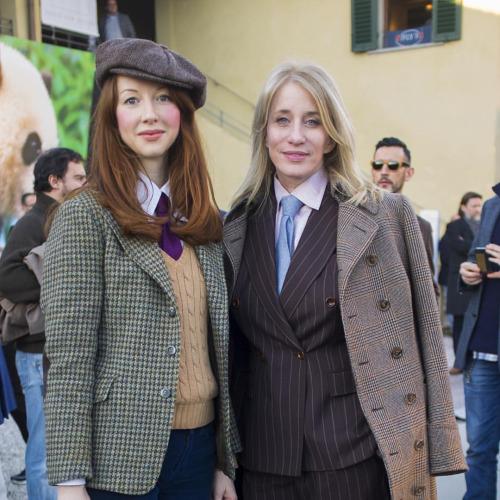 Sonya and Erika at Pitti Uomo