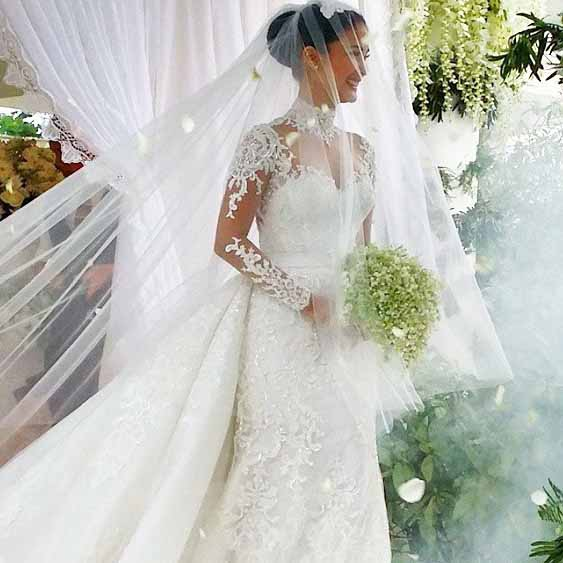 formal wedding gown