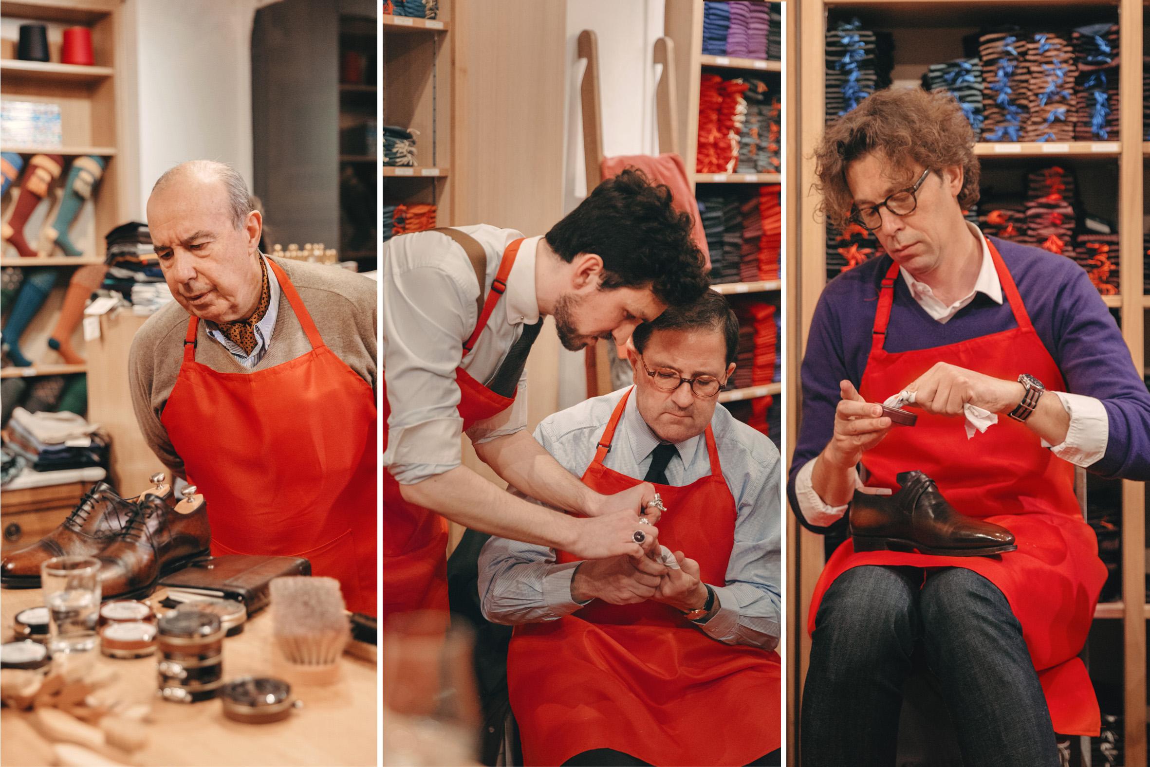 Ateliers et cours de glaçage de souliers chez Mes Chaussettes Rouges