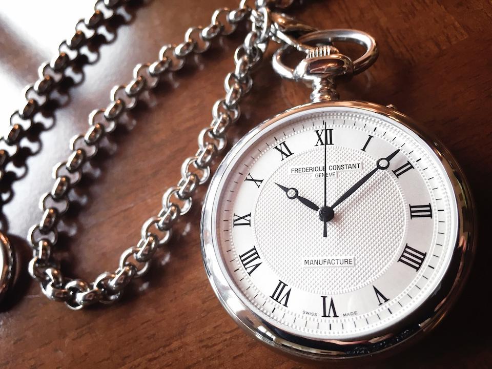 Essai de la Frédérique Constant Pocket Watch