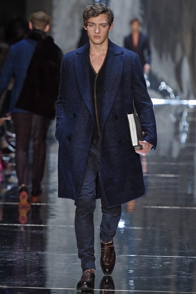 Berluit Manteau croisé bleu 2015