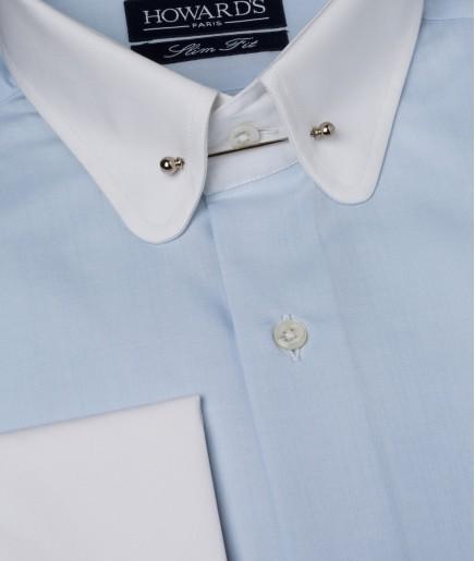"""Les chemises """"Pin Collar"""" par Howard's Paris"""