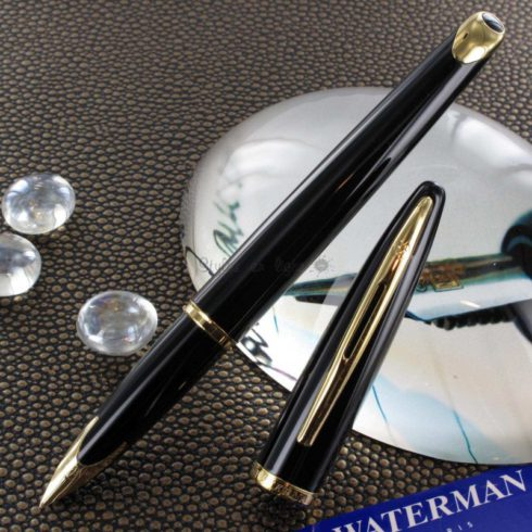 stylo-plume-waterman-carene-or-massif-18-k-laque-noire-gt