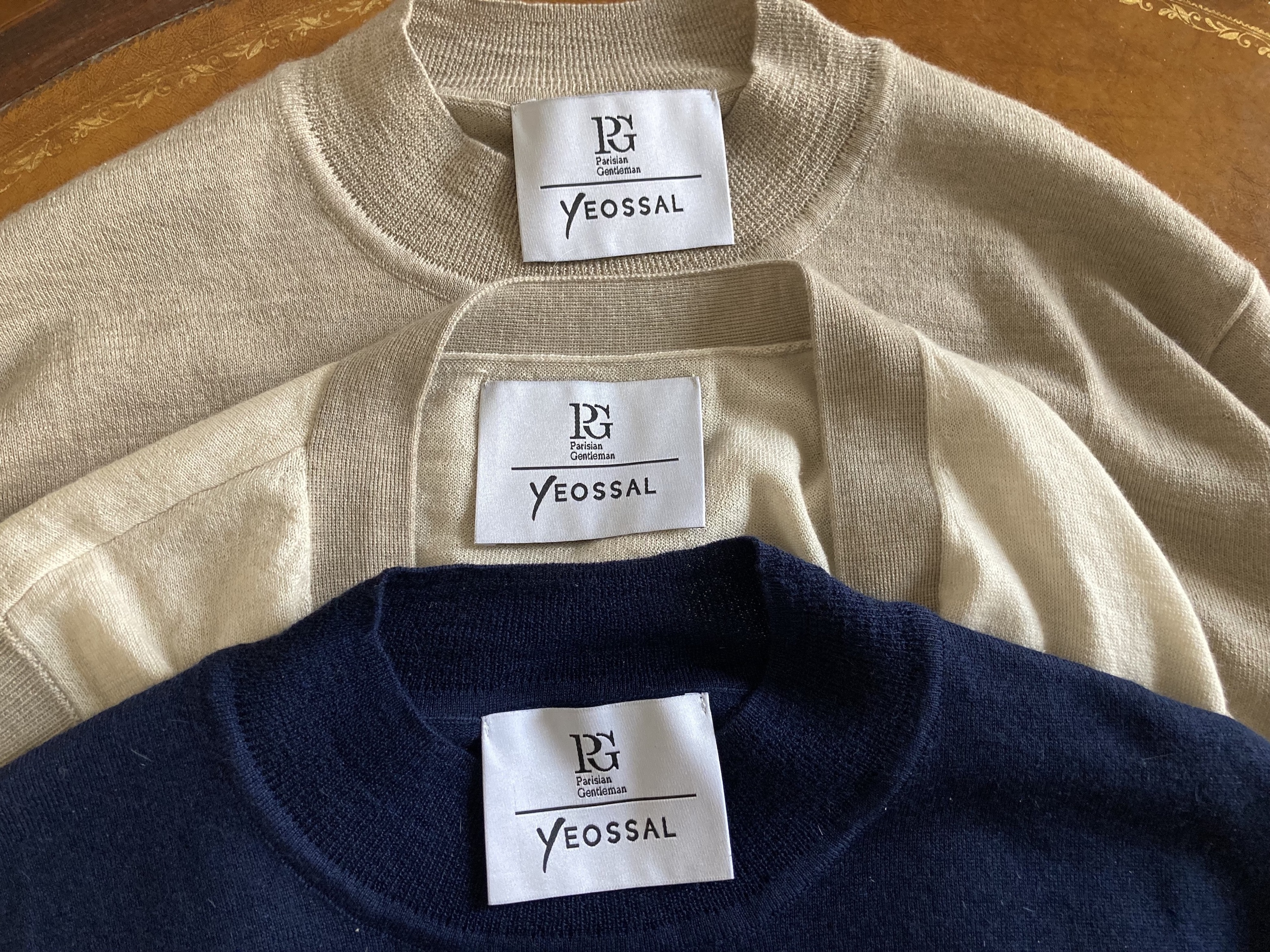 Collaboration PG X Yeossal: 100% cashmere sweaters and cardigan