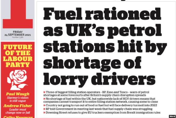So, the UK government said don't panic buy.
