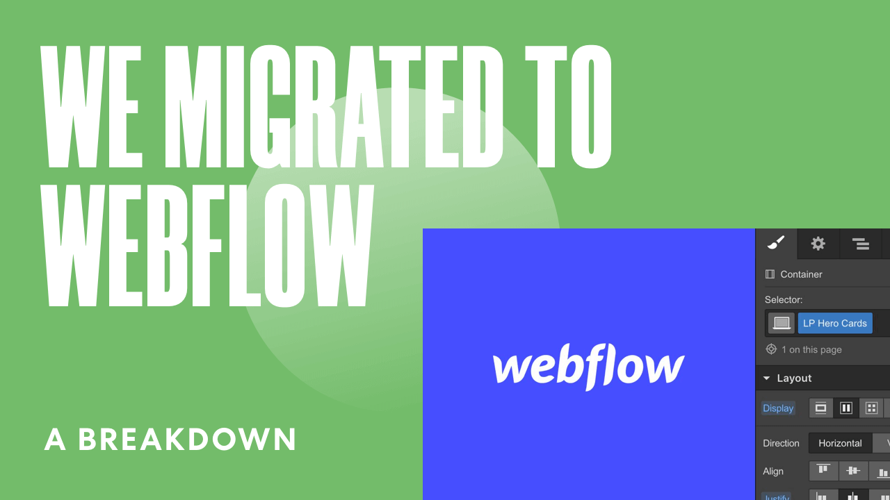 A Breakdown: We Migrated Our Website Design Agency Site to Webflow [WEBFLOW TIPS]