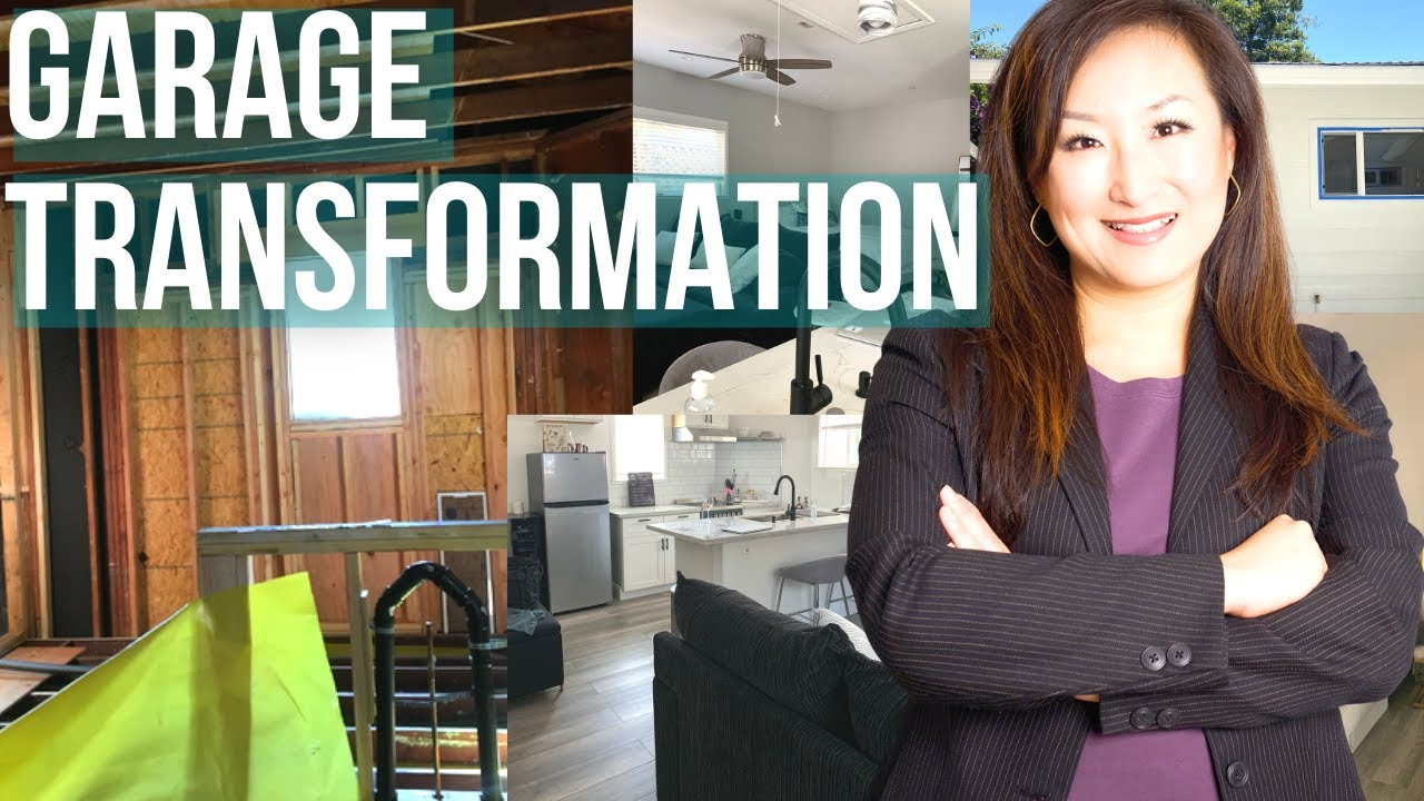 Garage Converted Into Modern Living Space - Before & After Tiny Home Tour
