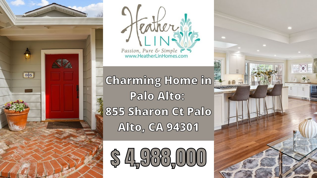 Video Tour of Charming Home in Palo Alto: 855 Sharon Ct Palo Alto, CA 94301