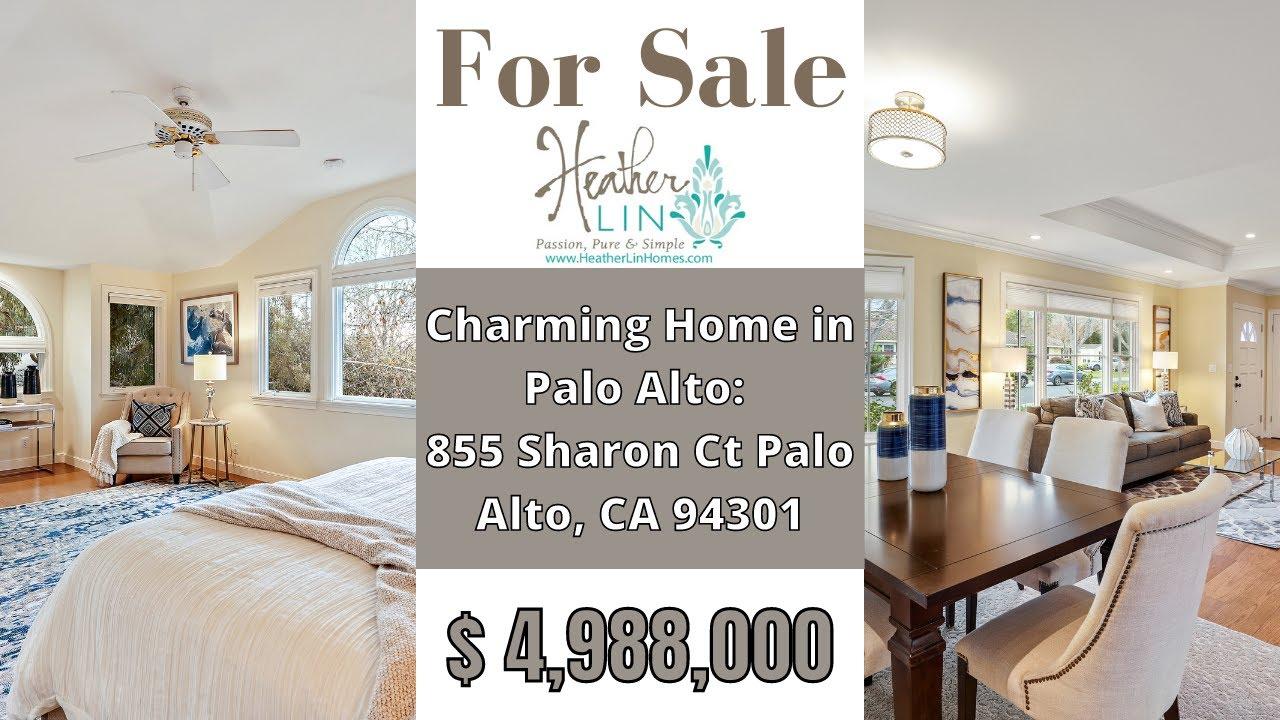 Homes for Sale in Palo Alto: 855 Sharon Ct Palo Alto, CA 94301