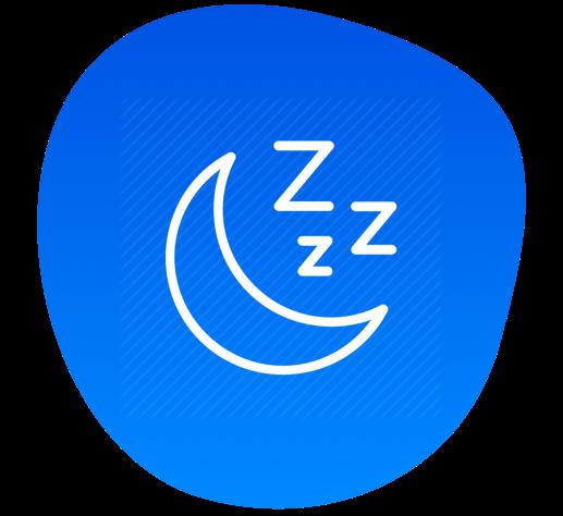 Trouble sleeping icon
