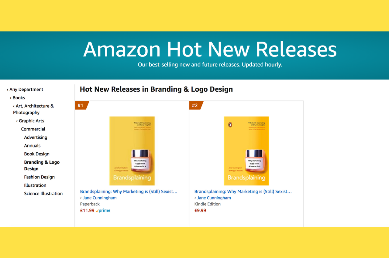 Brandsplaining #1 and #2 spot on Amazon's 'Branding' hot new releases