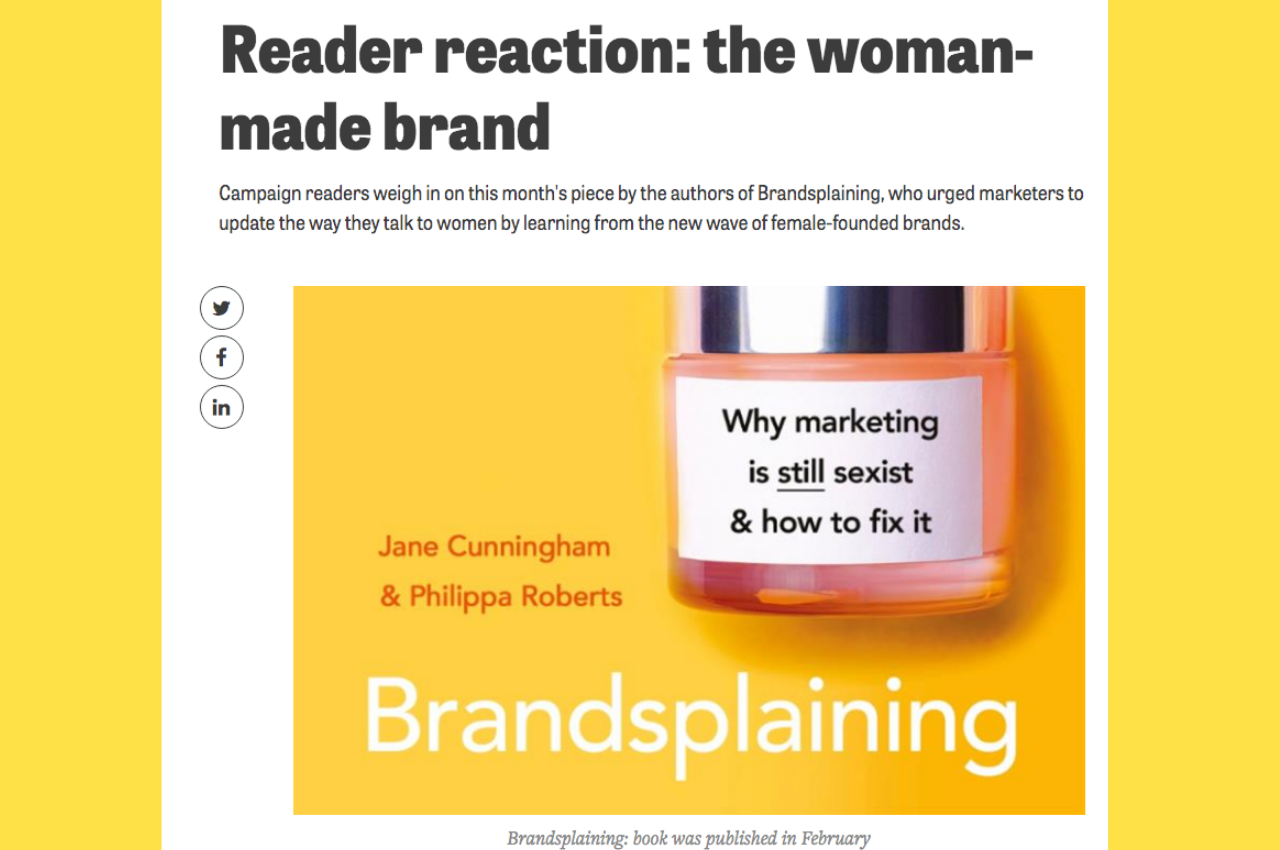 Reviews of Brandsplaining from industry insiders in Campaign Magazine