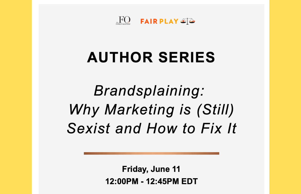 Joining the Female Quotient for a lively discussion on Friday
