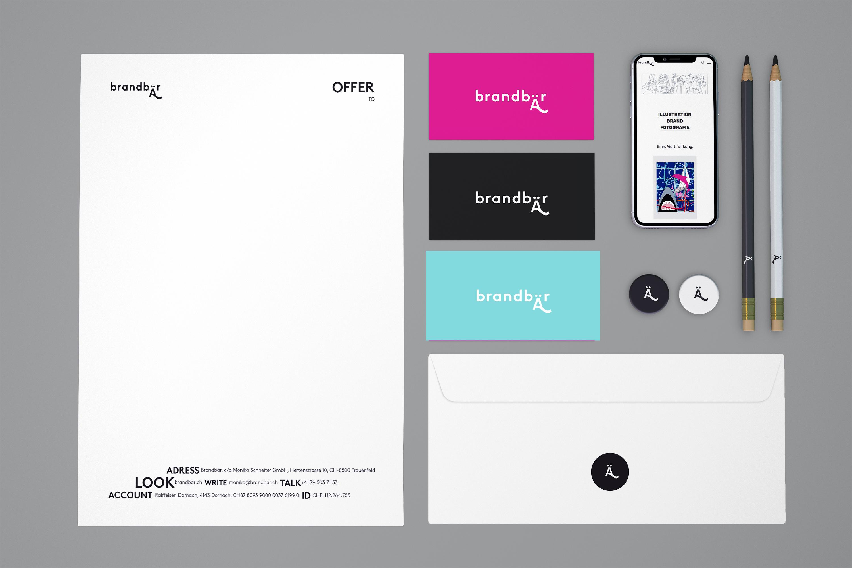 Prägnantes Logo und Corporate Design mit zwei verschiedenen Schriften.