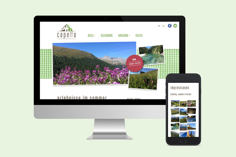 Webdesign und Illustration für Hotel