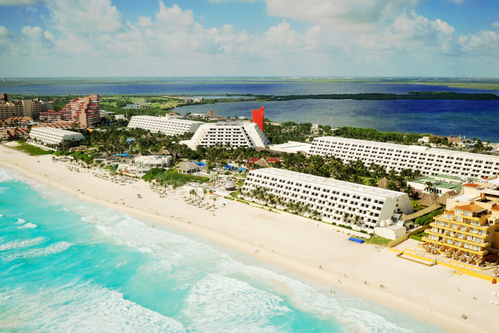 oasis cancun lite beach and hotel view