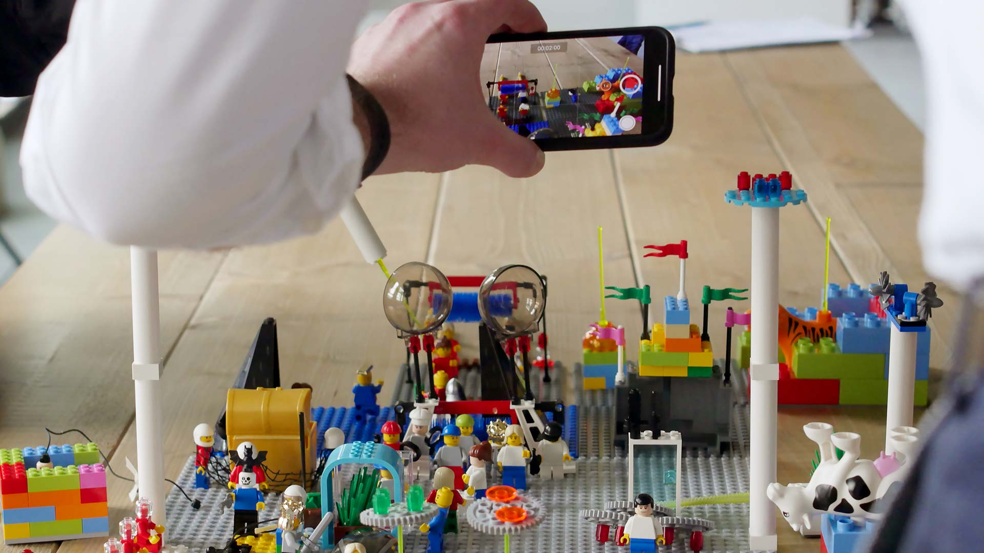 Taking a video of Lego Serious Play System Model