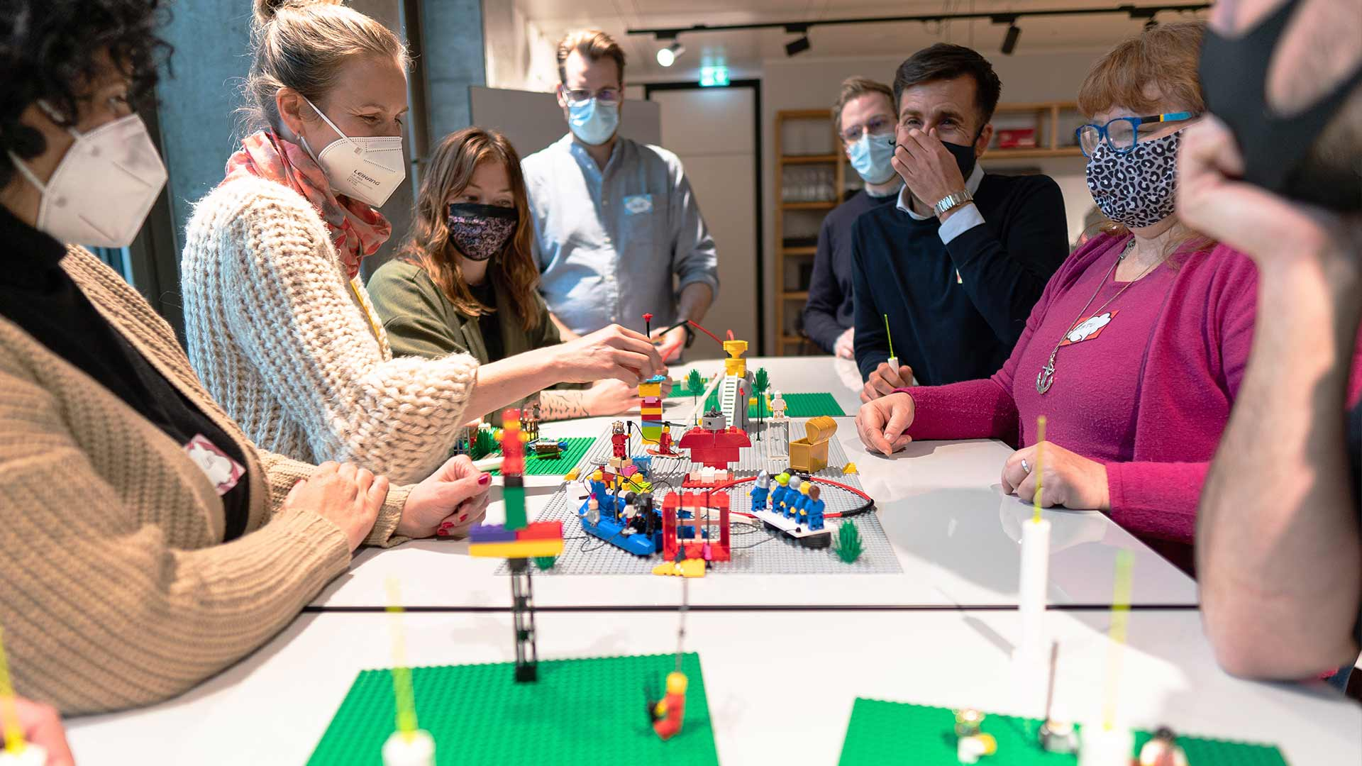 Group of People Lego Serious Play